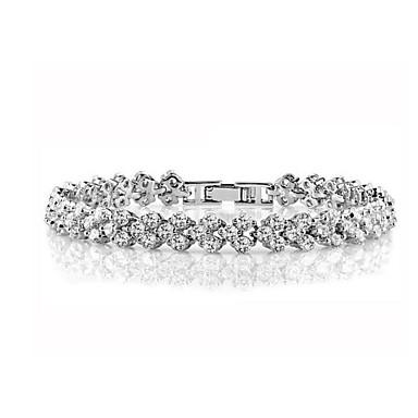 6ed2cb254 cheap Bracelets-Women's Cubic Zirconia Chain Bracelet Tennis Bracelet  Classic Ladies