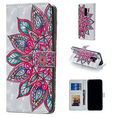 Недорогие Чехлы и кейсы для Galaxy S6 Edge-Кейс для Назначение SSamsung Galaxy S9 / S9 Plus / S8 Plus Кошелек / Бумажник для карт / со стендом Чехол Мандала Твердый Кожа PU