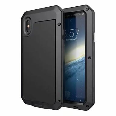 abordables Coques pour iPhone 5-cas pour apple iphone xr xs xs max eau / saleté / antichoc corps entier cas armure aluminium dur pour iphone x 8 8 plus 7 7plus 6s 6s plus se 5 5s