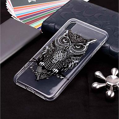voordelige iPhone 6 Plus hoesjes-hoesje Voor Apple iPhone XS / iPhone XR / iPhone XS Max Transparant / Patroon Achterkant dier / Uil Zacht TPU