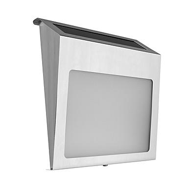 1pc de oțel inoxidabil alimentat din oțel inoxidabil 2 led-uri lampă de iluminat numărul casei lumina