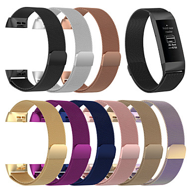 時計バンド のために Fitbit Charge 3 Fitbit スポーツバンド / ミレネーゼループ ステンレス リストストラップ