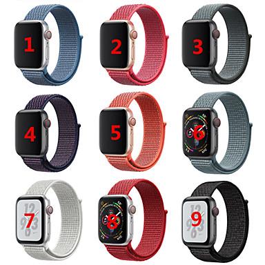 Недорогие Новые поступления-Ремешок для часов для Apple Watch Series 4/3/2/1 Apple Спортивный ремешок / Дизайн украшения Нейлон Повязка на запястье