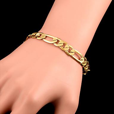 voordelige Heren Armband-Heren Figaro Armband Figaro Ketting Klassiek Modieus Koper Armband sieraden Goud Voor Feest Dagelijks