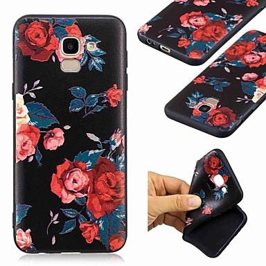 billige Nyheder-Etui Til Samsung Galaxy J6 / J4 Mønster Bagcover Blomst Blødt TPU for J7 (2017) / J6 (2018) / J6 Plus