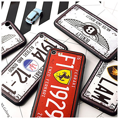 voordelige iPhone 6 Plus hoesjes-hoesje Voor Apple iPhone XS / iPhone XR / iPhone XS Max Patroon Achterkant Tegel / Punk Hard Acryl