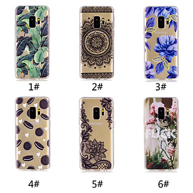 voordelige Galaxy S-serie hoesjes / covers-hoesje Voor Samsung Galaxy S9 / S9 Plus / S8 Plus Patroon Achterkant Voedsel / Woord / tekst / Lace Printing Zacht TPU