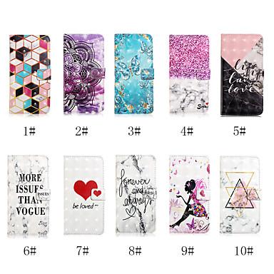 Недорогие Чехлы и кейсы для Galaxy S6-Кейс для Назначение SSamsung Galaxy S9 / S9 Plus / S8 Plus Кошелек / Бумажник для карт / со стендом Чехол Слова / выражения / Бабочка / С сердцем Твердый Кожа PU