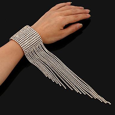 Dámské Tenisový řetězec Tenisové Náramky - Luxus Náramky Šperky Zlatá / Stříbrná Pro Svatební Párty Bar