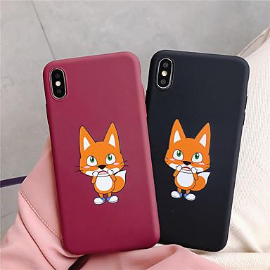 voordelige iPhone 6 hoesjes-hoesje Voor Apple iPhone XS / iPhone XR / iPhone XS Max Ultradun / Mat Achterkant dier Zacht TPU