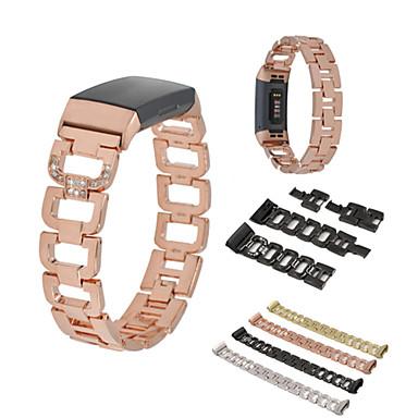 billige Nyheder-Urrem for Fitbit Charge 3 Fitbit Sportsrem / Smykkedesign Rustfrit stål Håndledsrem