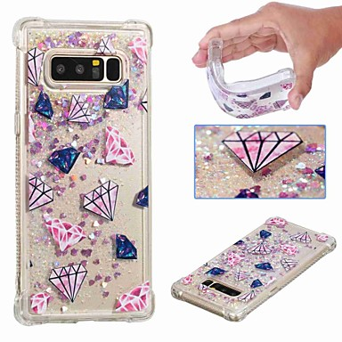 voordelige Galaxy Note-serie hoesjes / covers-hoesje Voor Samsung Galaxy Note 9 / Note 8 Schokbestendig / Stromende vloeistof / Transparant Achterkant Landschap / Glitterglans Zacht TPU
