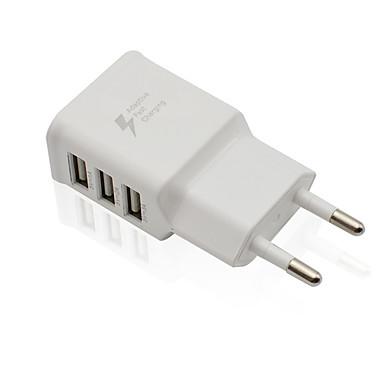 billige Nyheder-Lille og mobil oplader / Trådløs Oplader USB oplader EU Stik Normal 3 USB-porte 2 A DC 5V for