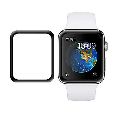abordables Protections d'Ecran Apple Watch-Protecteur d'écran Pour Apple Watch Series 4 / Apple Watch Series 3/2/1 Verre Trempé Extra Fin 1 pièce