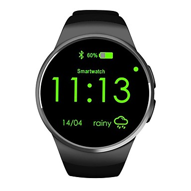 זול שעונים חכמים-KW18 גברים חכמים שעונים Android iOS Blootooth Smart ספורטיבי עמיד במים מוניטור קצב לב מודד לחץ דם שעון עצר מד צעדים מזכיר שיחות מד פעילות מעקב שינה / מסך מגע / כלוריות שנשרפו / המתנה ארוכה