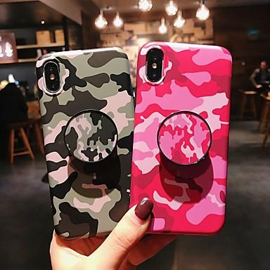 voordelige iPhone 6 hoesjes-hoesje Voor Apple iPhone XS / iPhone XR / iPhone XS Max met standaard / IMD / Mat Achterkant Camouflage Kleur Zacht TPU