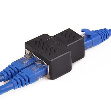 billige Ethernet-kabler-1 til 2 måder lan ethernet netværkskabel rj45 til rj45 adapter kvinde - kvindelig splitter stik adapter