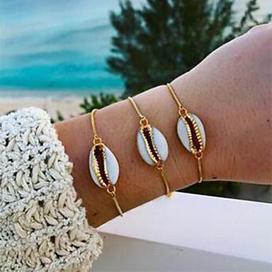 economico Bracciali-Per donna Bracciale Conchiglia Conchiglia di Puka Alla moda Semplice Gioielli Hawaii Lega Gioielli braccialetto Oro Per Quotidiano