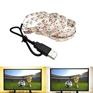 0.5m Fâșii De Becuri LEd Flexibile 300 LED-uri SMD2835 Alb Cald / Alb Rece USB / Petrecere / Decorativ Alimentat USB 1 buc