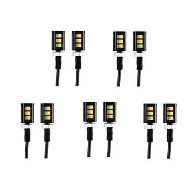 Недорогие Фары для мотоциклов-10 шт. Проводное подключение Мотоцикл / Автомобиль Лампы 3 W SMD 5630 60 lm 3 Светодиодная лампа Фары дневного света / Подсветка для номерного знака / Лампа поворотного сигнала Назначение