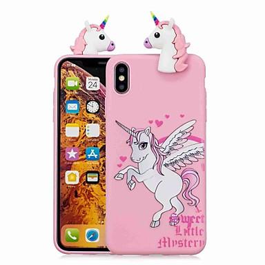 voordelige iPhone X hoesjes-hoesje Voor Apple iPhone XS / iPhone XR / iPhone XS Max Patroon Achterkant Eenhoorn / Cartoon Zacht TPU