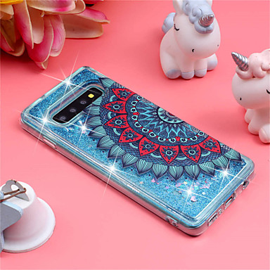Case For Samsung Galaxy Galaxy S10 Plus / Galaxy S10 E Shockproof / Flowing Liquid / Pattern Back Cover Mandala / Glitter Shine Soft TPU for S9 / S9 Plus / S8 Plus