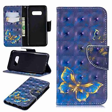 voordelige Galaxy S-serie hoesjes / covers-hoesje Voor Samsung Galaxy S9 / S9 Plus / S8 Plus Portemonnee / Kaarthouder / met standaard Volledig hoesje Vlinder / Flamingo / Olifant Hard PU-nahka