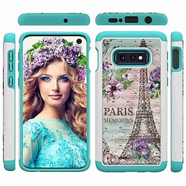 voordelige Galaxy S-serie hoesjes / covers-hoesje Voor Samsung Galaxy S9 / S9 Plus / S8 Plus Schokbestendig / Strass / Patroon Achterkant Eiffeltoren / Strass Hard PC