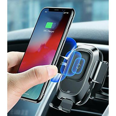 billige Telefonladere-baseus qi bil trådløs lader air vent automatisk monteringsholder for iphone 8 plus xr x xs max samsung galaxy s10 s10 + s10e s9 s8 intelligent infrarød sensor rask trådløs lading
