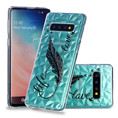 Case For Samsung Galaxy Galaxy S10 Plus / Galaxy S10 E Shockproof / Transparent / Pattern Back Cover Feathers Soft TPU for S9 / S9 Plus / S8 Plus