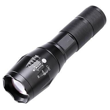 LED Flashlights LED LED بواعث 2000 lm 5 إضاءة الوضع زوومابلي ضد الماء Adjustable Focus Camping / Hiking / Caving Everyday Use أخضر أسود