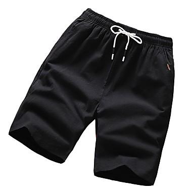 8e8c97757f3d billige Shorts-Herre   Dame Grunnleggende Chinos   Shorts Bukser - Ensfarget  Svart