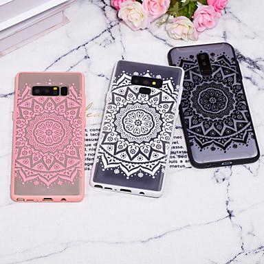 voordelige Galaxy Note-serie hoesjes / covers-hoesje Voor Samsung Galaxy Note 9 / Note 8 Reliëfopdruk / Patroon Achterkant Lace Printing Hard PC