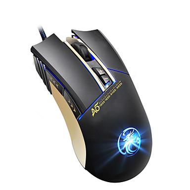 IMICE A5 Drátový USB Gaming Mouse Vedly dýchací světlo 1200/1600/2400/3200 dpi 4 Nastavitelné úrovně DPI 7 pcs Klíče
