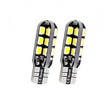 Недорогие Фары для мотоциклов-SENCART 2pcs T10 / BA9S / BAX9s Мотоцикл / Автомобиль Лампы 3 W SMD 2838 160 lm 24 Светодиодная лампа Подсветка для номерного знака / Лампа поворотного сигнала / Внутреннее освещение Назначение