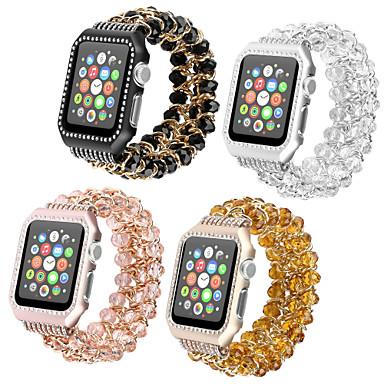 Недорогие Ремешки для Apple Watch-Ремешок для часов для Apple Watch Series 4/3/2/1 Apple Дизайн украшения / Инструменты сделай-сам Металл / Plastic Повязка на запястье