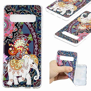 voordelige Galaxy S-serie hoesjes / covers-hoesje Voor Samsung Galaxy S9 / S9 Plus / S8 Plus Transparant / Patroon Achterkant Olifant Zacht TPU