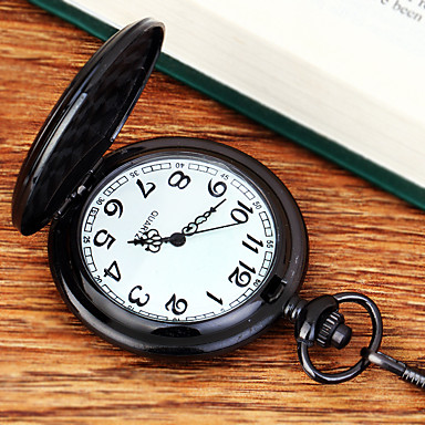Χαμηλού Κόστους Ανδρικά ρολόγια-Ανδρικά Ρολόι Τσέπης Χαλαζίας Μαύρο Νεό Σχέδιο Απίθανο Αναλογικό Καθημερινό Μινιμαλιστική Αριστο - Μαύρο