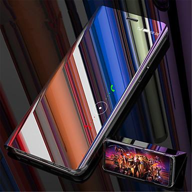 voordelige Galaxy S-serie hoesjes / covers-hoesje Voor Samsung Galaxy S9 / S9 Plus / S8 Plus met standaard / Beplating / Spiegel Volledig hoesje Effen Hard Muovi