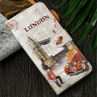 voordelige Galaxy S-serie hoesjes / covers-hoesje Voor Samsung Galaxy S9 / S9 Plus / S8 Plus Portemonnee / met standaard / Flip Volledig hoesje Uitzicht op de stad Hard PU-nahka