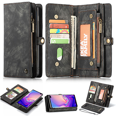 Недорогие Чехлы и кейсы для Galaxy S-Кейс для Назначение SSamsung Galaxy S9 / S9 Plus / S8 Plus Кошелек / Бумажник для карт / со стендом Чехол Однотонный Твердый Кожа PU