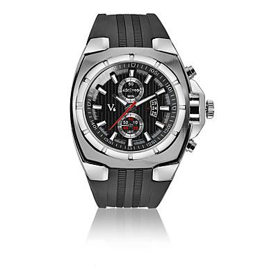 levne Pánské-V6 Pánské Sportovní hodinky Hodinky k šatům Náramkové hodinky Křemenný Kůže Černá 30 m Kalendář Odolný vůči nárazu Analogové Luxus Módní - Černá Stříbrná Růžové zlato Jeden rok Životnost baterie