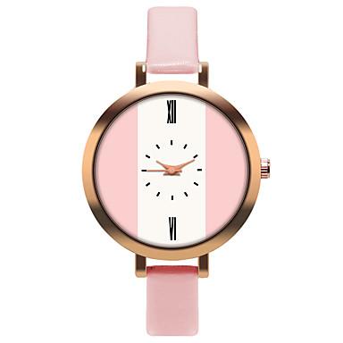 Недорогие Женские часы-Жен. Кварцевые На каждый день Мода Белый Оранжевый Коричневый Искусственная кожа Китайский Кварцевый Лиловый Светло-зеленый Розовый с красным Повседневные часы обожаемый 30 m 1 ед. Аналоговый