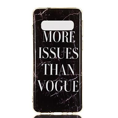 Недорогие Чехлы и кейсы для Galaxy S6-Кейс для Назначение SSamsung Galaxy S9 / S9 Plus / S8 Plus IMD / С узором Кейс на заднюю панель Слова / выражения / Мрамор Мягкий ТПУ
