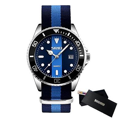 Χαμηλού Κόστους Ανδρικά ρολόγια-SKMEI Ανδρικά Αθλητικό Ρολόι Ιαπωνικά Γιαπωνέζικο Quartz Νάιλον Λευκή / Μπλε / Κόκκινο 30 m Ανθεκτικό στο Νερό Ημερολόγιο Καθημερινό Ρολόι Αναλογικό Υπαίθριο Μοντέρνα - Κόκκινο Μπλε Μπλε Απαλό