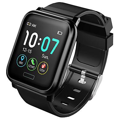 זול שעונים חכמים-B1 גברים חכמים שעונים Android iOS Blootooth עמיד במים מסך מגע מוניטור קצב לב מודד לחץ דם ספורטיבי שעון עצר מד צעדים מזכיר שיחות מד פעילות מעקב שינה
