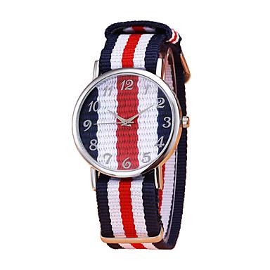 זול שעוני גברים-בגדי ריקוד גברים שעון יד קווארץ ניילון כחול / אדום / ירוק כרונוגרף שעונים יום יומיים מקסים אנלוגי אופנתי צבעוני - פנינה ירוק בהיר קריסטל שנה אחת חיי סוללה