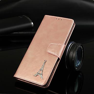 Недорогие Чехлы и кейсы для Galaxy A3-Кейс для Назначение SSamsung Galaxy A6 (2018) / A6+ (2018) / Galaxy A7(2018) Кошелек / Бумажник для карт / со стендом Чехол Однотонный Твердый Кожа PU