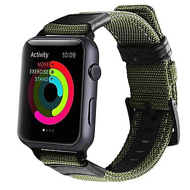Недорогие Ремешки для Apple Watch-Ремешок для часов для Серия Apple Watch 5/4/3/2/1 Apple Классическая застежка Нейлон / Натуральная кожа Повязка на запястье