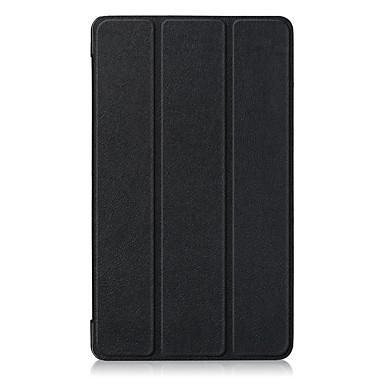 Недорогие Чехлы и кейсы для Lenovo-Кейс для Назначение Lenovo Lenovo Tab 7 Защита от пыли / Флип / Авто Режим сна / Пробуждение Чехол Однотонный Твердый Кожа PU